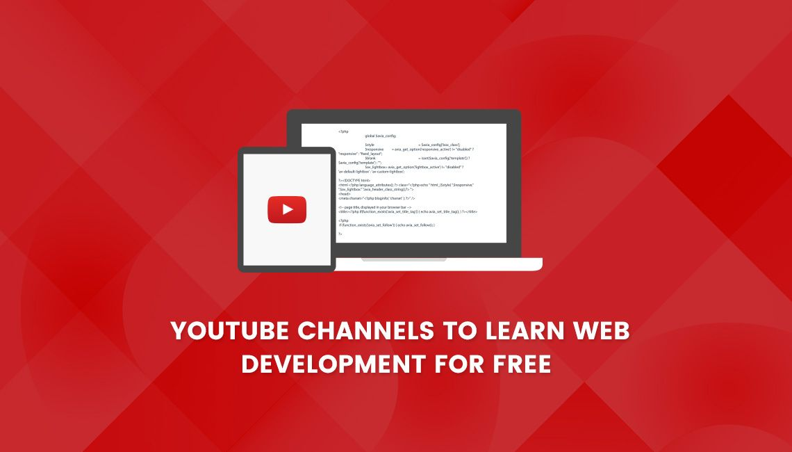 list of YouTube channels for web design and development.
